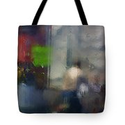 Street With Motorcyclist.  Tote Bag