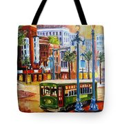 Streetcar On Canal Street Tote Bag