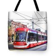 Streetcar On Spadina Avenue #17 Tote Bag