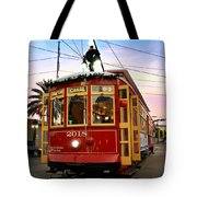 Streetcar Sunset Tote Bag