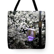 Streetlights In Blossoms Tote Bag