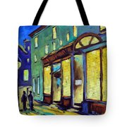 Streets At Night Tote Bag
