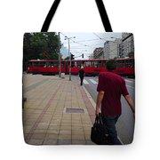 Streets Of Belgrade Tote Bag