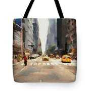 Streets Of New York Tote Bag
