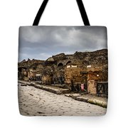 Streets Of Pompeii - 1a Tote Bag