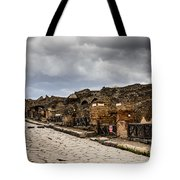 Streets Of Pompeii Tote Bag