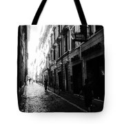 Streets Of Rome 2 Black And White Tote Bag