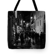 Streets Of Rome At Night  Tote Bag