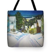 Streets Of Snow Tote Bag