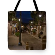 Streets Of St. Augustine At Night Tote Bag