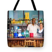 Streetside Welcome - Faces Of Havana Tote Bag