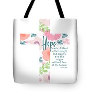 Strength And Dignity Cross- Art By Linda Woods Tote Bag