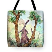 Stretching For Lunch Tote Bag