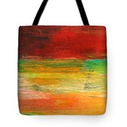 Stretching Land Tote Bag