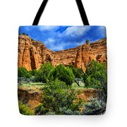 Striated Mountains Tote Bag