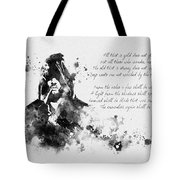 Strider Black And White Tote Bag
