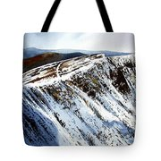 Striding Edge Leading To Helvellin Sumit  Tote Bag