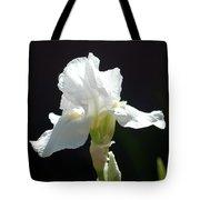 Striking White Iris Tote Bag