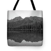 String Lake Reflections Bw Tote Bag