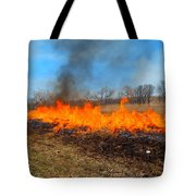 String Of Fire Tote Bag