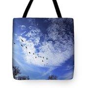 String Of Geese Tote Bag