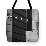 String Of Ideas Black And White Tote Bag