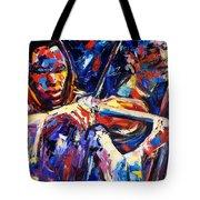 Strings Of Jazz Tote Bag
