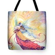 Strings Of Worship Tote Bag by Sara Burrier