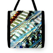Strings Z100 Abstract Tote Bag