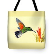 Stripe Tailed Hummingbird Tote Bag