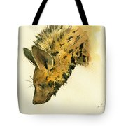 Striped Hyena Animal Art Tote Bag