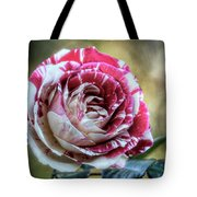 Striped Rose  Tote Bag
