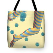 Striped Stockings Tote Bag
