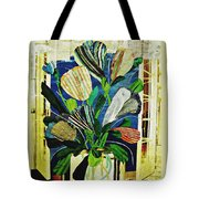 Striped Tulips At The Old Apartment Tote Bag