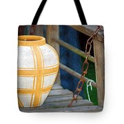 Striped Vase Tote Bag