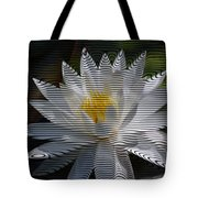 Stripped Waterlily Tote Bag