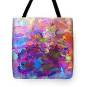 Strips Of Pretty Colors Abstract Tote Bag