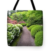 Stroling Garden Path In Japanese Garden Tote Bag