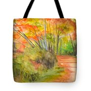 Strolling Along The Canal Tote Bag