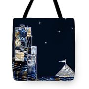 Strolling Along The Seine At 3 Am Tote Bag