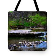 Strolling By The Stream Tote Bag