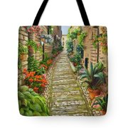 Strolling Spello, Italy Tote Bag