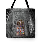 Structures Of St. Patrick Cathedral Bw Tote Bag