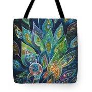 Peacock Strut Tote Bag