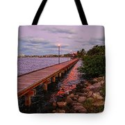 Stuart Riverwalk Sunset Tote Bag