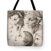 Studies Of Heads Anonimo, Blooteling Abraham Tote Bag