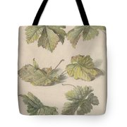 Studies Of Vine Leaves, Willem Van Leen, 1796 Tote Bag