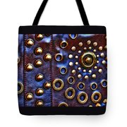 Studs On Leather Tote Bag