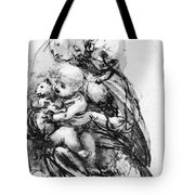 Study For A Madonna With A Cat Tote Bag
