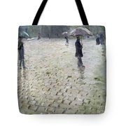 Study For A Paris Street Rainy Day Tote Bag by Gustave Caillebotte